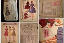 Sewing and Dressmaking / Vintage patterns and home made things.