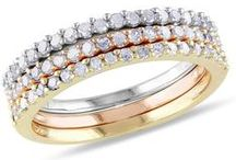 Stackable Rings - Spring Style Guide / Keep your fingers fully loaded with stackable rings / by Ice.com - Jewelry & Diamonds