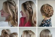 Cool Hairdos / Updos, hair styles, cut and color, braids