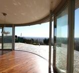 Curved Glass & Sliding Doors / Curved sliding patio doors, curved double glazing and windows