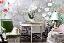 Wallpaper & Surfaces / Wallpaper, Textured Walls, Murals and Tiles - Inspiration and Ideas.