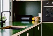 Kitchen / Kitchen inspiration.  Cabinets, shelving, breakfast nooks and everything in between.