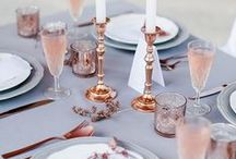 Rose Quartz & Serenity / Decor and event tableware ideas inspired by the 2016 Pantone colours of the year.