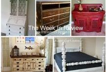 """The Week In Review / Oh!  So you don't check Furniture Flippin' every day, huh?  Well, good thing we do a """"Week In Review"""".  Now you can check out what you missed, you neglectful blog reader, you!  :-)"""