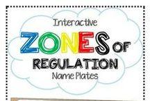 Zones of Regulation (School) / Social and emotional regulation strategies for students / by Julie Cryer-Newburn