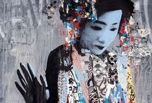 """Silence in Kyoto / Japan is often described as a land of contradictions; where futuristic technological visions integrate almost seamlessly into a culture of strong traditions and refined simplicity. And for this month's """"Silence In Kyoto"""" scarves challenge, it's time to put down the gadgets and video games and return to old Japan, with its intricate rituals and elegant minimalism.   Submit your artwork at www.frontrowsociety.com"""