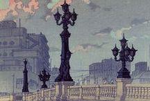 川瀬巴水 Hasui Kawase / 1883 - 1957 Woodblock artist