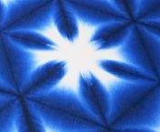 雪花絞 Sekka Shibori / Snowflake pattern of Itajime Shibori(clamp resist)