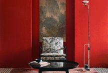 Colour: Reds and Oranges / Bold red and orange colour inspiration for a fiery, modern home!
