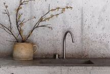 Concrete Comfort / Concrete is hot in the interiors world right now!