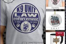 Firefighter and Police Gifts / I am a proud brother of a Deputy Sheriff in the Midwest. Pinned here are my favorite police department, K9, police officer, law enforcement and sheriff t-shirt designs.   I'm also very supportive of Fire Departments and have pinned my favorite firefighter t-shirt designs. Please show your love for both police departments and fire department by wearing police and firefighting t shirts! / by Artistic Mind