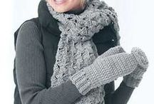 crocheted mittens and scarves / by Donna Clemmens