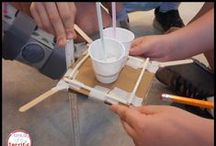 Real Life Tasks in STEM / These are all Stem Challenges that involve solving problems that occur in real life situations! Students may research other countries or topics like pipelines and then build models. This includes cargo drops, rescue devices, building hammocks, flood barriers, food delivery companies, and more!
