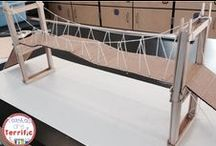 Bridges in STEM Class / STEM Challenges: These are our favorite bridges and there are so many styles, materials, and constraints. It's all about building bridges in STEM class! Can you connect across a gap or chasm successfully?