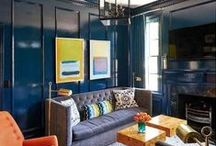 * LIVING ROOM INSPIRATION * / Great furniture pieces, color, texture, flow, accesories...