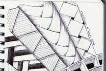 Drawing doodles, tangling