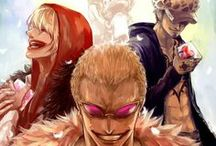 """· Law x Doflamingo x Corazòn · / """"I'll die smiling! Because if you ever think of me in future, I want you to remember me smiling""""  ------------------TRIBUTE BLOG: http://lawdoflamingocorazon.tumblr.com/"""