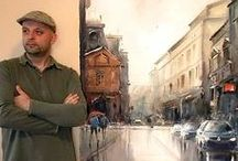 Dušan Đukarić- Painter Serbian  /Aquarelista / Dušan Đukarić - born in Teslic, former Yugoslavia - landscapes, cityscapes & figuratives - watercolour paintings are equally soft & poetic, with an atmosphere of immediacy & warmth. Elements of light, key in watercolour, helps present a flickering atmosphere ...