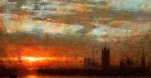 Albert Goodwin (1845-1932),English painter. / Influence of Pre-Raphaelite and J.M.W.Turner