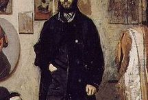 Gioseppe Abbati(1836-1868 ), Italian painter / Giuseppe Abbati (January 13, 1836 – February 21, 1868) was an Italian painter who belonged to the group known as the Macchiaioli. Abbati was born in Naples. He received early training in painting from his father Vincenzo, who specialized in paintings of architectural interiors, and Abbati's own early paintings were interiors.He participated in Garibaldi's 1860 campaign, suffering the loss of his right eye at the Battle of Capua.Died at the age of thirty-two in Florence,his own dog bit him,rabies