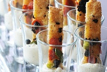 Food Appetizers / I think that party food should not only be delicious, but pretty!  Our visual attraction to the food is just as important - this is a collection of party food and appetizers that I think are almost too pretty to eat!