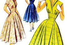 Vintage sewing patterns / Vintage sewing patterns - beautiful fashions from the 20th century