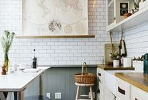 kitchens / A collection of kitchens I love...you will likely find lots of farmhouse sinks and open shelving here!
