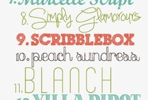 Printables Templates Fonts Labels / by Katie Cella Malcolm