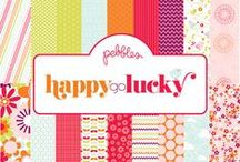 Happy Go Lucky Collection / Happy Go Lucky Collection released by Pebbles, Inc. #papercrafts #cardmaking #scrapbooking / by Pebbles Inc.