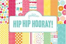 Hip Hip Hooray Collection / Hip Hip Hooray Collection, released Summer 2012. #partyideas #scrapbooking #crafts #papercrafts / by Pebbles Inc.