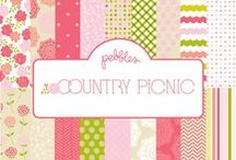 Country Picnic Collection / Country Picnic collection, released winter 2012 by Pebbles, Inc.  #paper #scrapbooking #cardmaking #papercraft #craft / by Pebbles Inc.