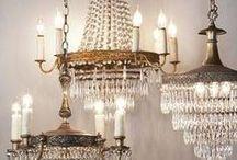 Brocante verlichting / Brocante hanglampen, staande lampen, kroonluchters en ander lichtgevend schoon, geven je huis een fijne sfeer!