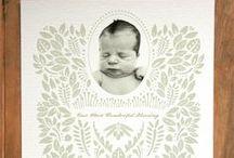 Birth Announcements / Super cute ideas for birth announcements.
