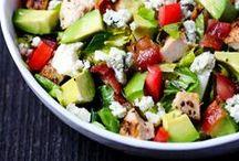 Scrumptious Salads / Salads - a lot of yummy crap on green stuff.