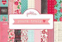 Yours Truly Collection / Vivid reds + pink with robin's egg blue anchor this fun Valentine's themed collection from #Pebblesinc Released Winter 2014 / by Pebbles Inc.