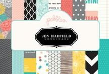 Jen Hadfield Home+Made Collection / @PebblesInc and Jen Hadfield's collection: Home+Made featuring a stylish palette of coral, aqua, yellow and gray with dazzling gold and black accents. Perfect for DIY projects, home decor and papercrafting! @tatertotsjello / by Pebbles Inc.
