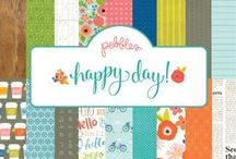 Happy Day Collection / Enjoy life's little moments with Happy Day from Pebbles. Recall brunches with friends and leisurely afternoon bike rides with this cheerful collection that focuses on the beauty of the everyday. / by Pebbles Inc.