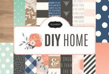Jen Hadfield DIY Home / Capture the true essence of home with the newest collection by Jen Hadfield, DIY Home. Inspired by Jen's impeccable home decor style, this collection boasts eye-catching patterns, textures and a pleasing palette of pink, charcoal, vanilla and robin's egg. Delightful phrases and icons feature touches of gold foil for a fun yet sophisticated look. This versatile collection is perfect for all types of DIY, scrapbooking, and crafting projects. / by Pebbles Inc