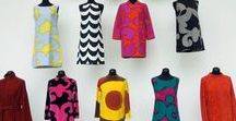 Marimekko - now and vintage / Marimekko fabric and clothing designs have had a distinctive look since the 1950s