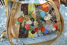 Purses and Pillows / Ideas for repurposing fabrics and embellishments for purses and pillows / by Becky Cartwright
