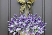 door wreaths,garlands and swags