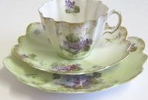 Collection of pretty dishes / tea sets, teapots, mix and match cups and saucers, to enjoy your afternoon tea or coffee with the girls.