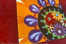 Painted Furniture / Hand painted, funky fabric, cool designs, animal print, bold color, fun materials, mixing various pieces, out of the ordinary, one of a kind furniture! Look for additional inspiration on my blog; http://thedecorativepaintbrush.blogspot.com / by Mary Mollica of The Decorative Paintbrush