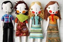 Muñecas hechas a mano, artísticas - Handmade, Art Dolls / En tela / Cloth dolls, fabric dolls / by Maria Tenorio
