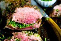 Lamb recipes / Lamb - roast lamb, lamb chops, lamb chops, lamb curry, Greek lamb. Lemon, garlic and rosemary