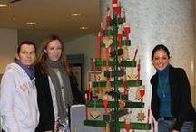 I nostri alberi fai-da-te! / Pinterest ha dato ispirazione anche a noi. La creatività festiva dilaga nei nostri uffici!