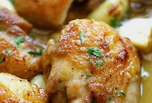 Food - Chicken / Wonderful meal that chicken. Succulent, juicy and always yummy. Roast it, broil it, fry it and poach it. Team it with fries, mash, rice or noodles. Oh, and a salad of course