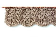 Knit -  stitches, pattern & sampling / This is just for swatches or examples of various knitting stitches and patterning