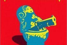 Matrioskas en 2D - patrones, diseños // 2D Matryoshkas - patterns, desings / Dibujos, pósters, sellos, estampillas diseños, tatuajes, murales, pinturas, bordados planos, patrones, estampados, aplicaciones, etc.  / by Maria Tenorio