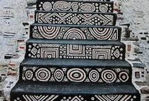 Staircases / Beautiful staircases; painted, tiled, recreated.